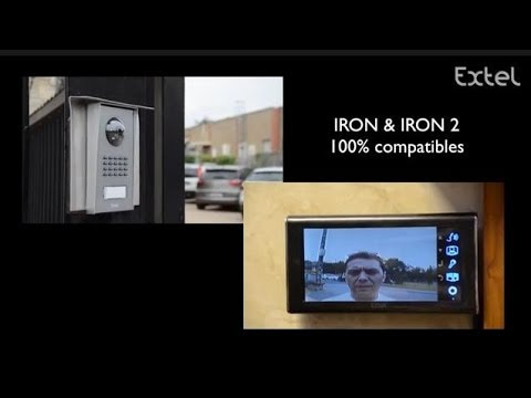 iron 2 installation visiophone extel portier vid o youtube. Black Bedroom Furniture Sets. Home Design Ideas