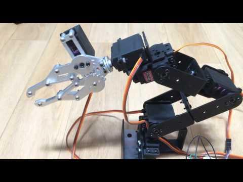 6 DoF robot arm test