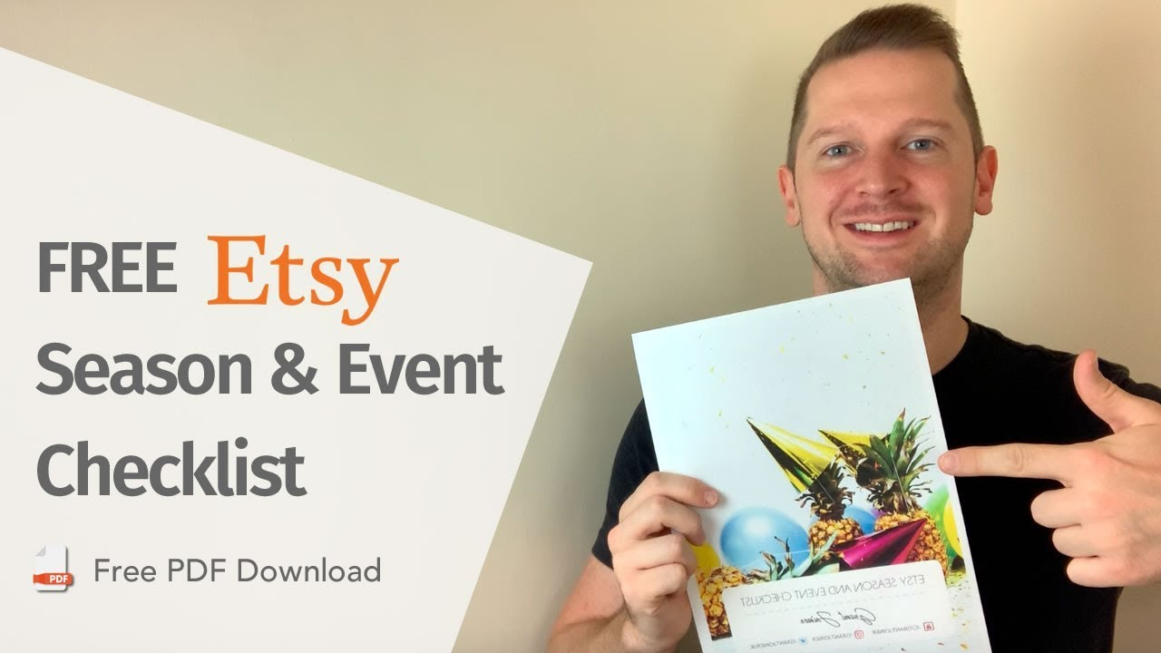 Etsy Seller Tips - FREE 14 point Event Checklist for your Etsy Business
