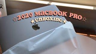 aesthetic macbook pro unboxing *2020*