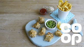 Fish Bites With Mushy Peas - Kids Recipes