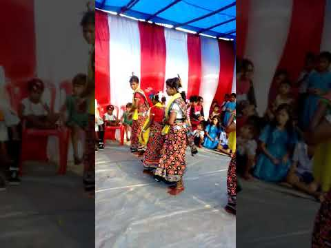 Slum students performing tribal dance
