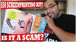 $50 Screen printing kit review. Is it a SCAM?? Speedball waterbased inks