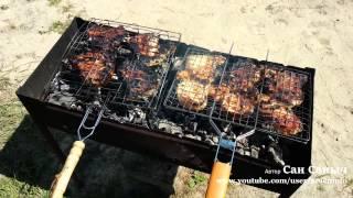 Жарим мясо на косточке на мангале