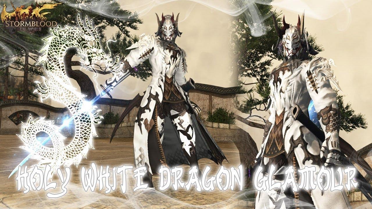Ffxiv Holy White Dragon Glamour By Xaraphiel Youtube