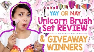 Yay Or Nay | Unicorn Brush Set Review + 6k Subs Giveaway Winners