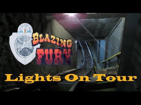 Behind The Scenes: Blazing Fury Full Tour at Dollywood With Lights On