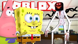 Spongebob and Patrick.. Get a New Job in Roblox