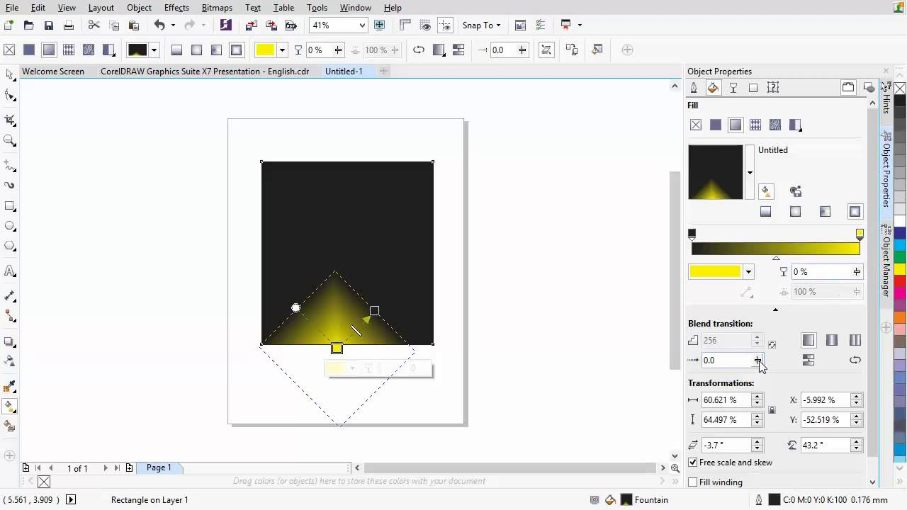 Line color in coreldraw - Coreldraw Graphics Suite X7 New Control Over Fills And Transparency Youtube