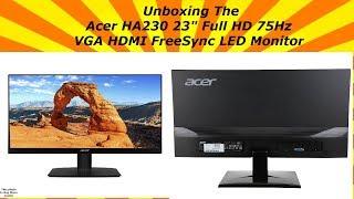 Розпакування Асер повний HA230 23'' HD монітор