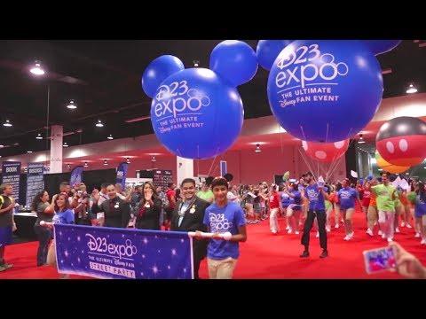 D23 Expo 2017 Parade Day 2 with Colin O'Donoghue (Captain Hook)