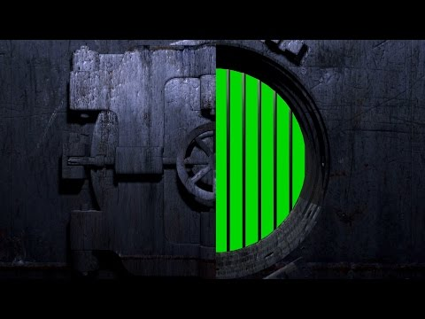 4K Door Open Vault Bank Intro Green Screen Footage Free Download