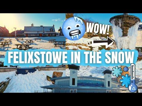 Felixstowe Seafront Tour In The Snow - Winter Walk