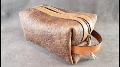 Making a Leather Dopp Kit (Shaving Kit)