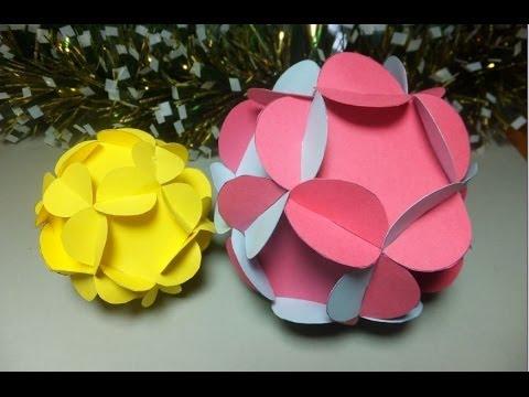 Bolas de cartulina para decoraci n para el arbol de - Decoracion arboles de navidad ...