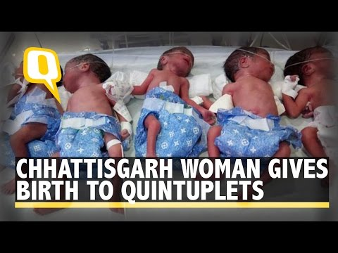 High Five: Woman gives birth to Quintuplets in Chhattisgarh