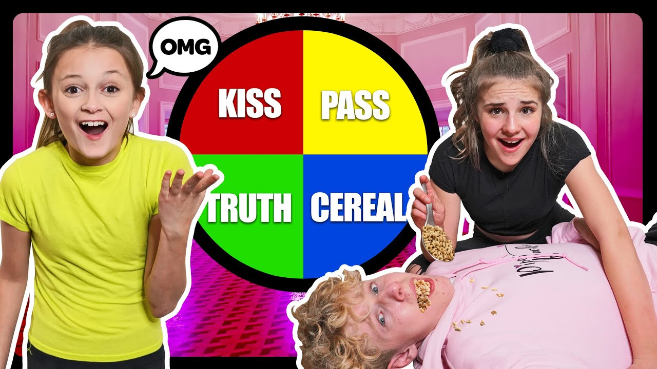 Spin The MYSTERY WHEEL of DARES Couples CHALLENGE **KISSING MY CRUSH**????  Sophie Fergi