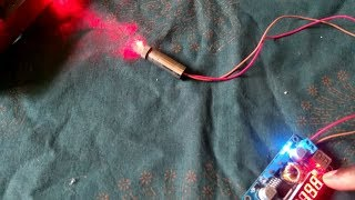 HOW TO MAKE 100mW BURNING LASER FROM DVD drive