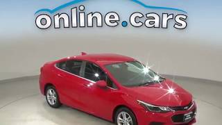 A10622TR Used 2017 Chevrolet Cruze LT FWD 4D Sedan Red Test Drive, Review, For Sale