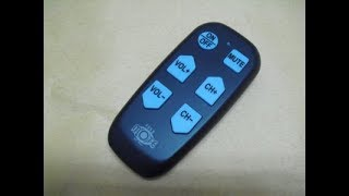 Learning IR remote control - large keys buttons - the best for old people URC830B