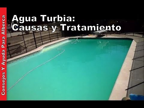 Agua turbia causas y tratamiento youtube for Colores ph piscina