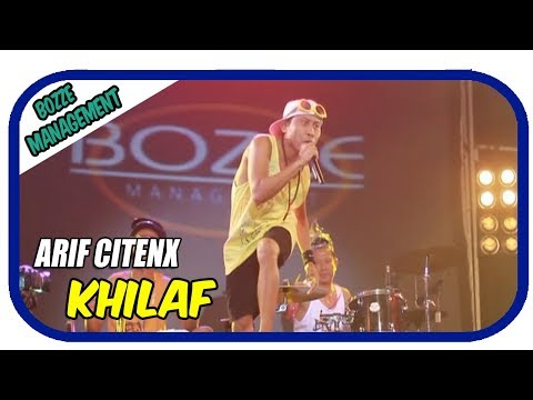 KHILAF - ARIF CITENX [ OFFICIAL KARAOKE MUSIC VIDEO LIVE BALI ]