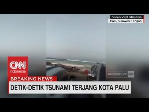Viral! Video Baru Detik-Detik Tsunami Hantam Kota Palu