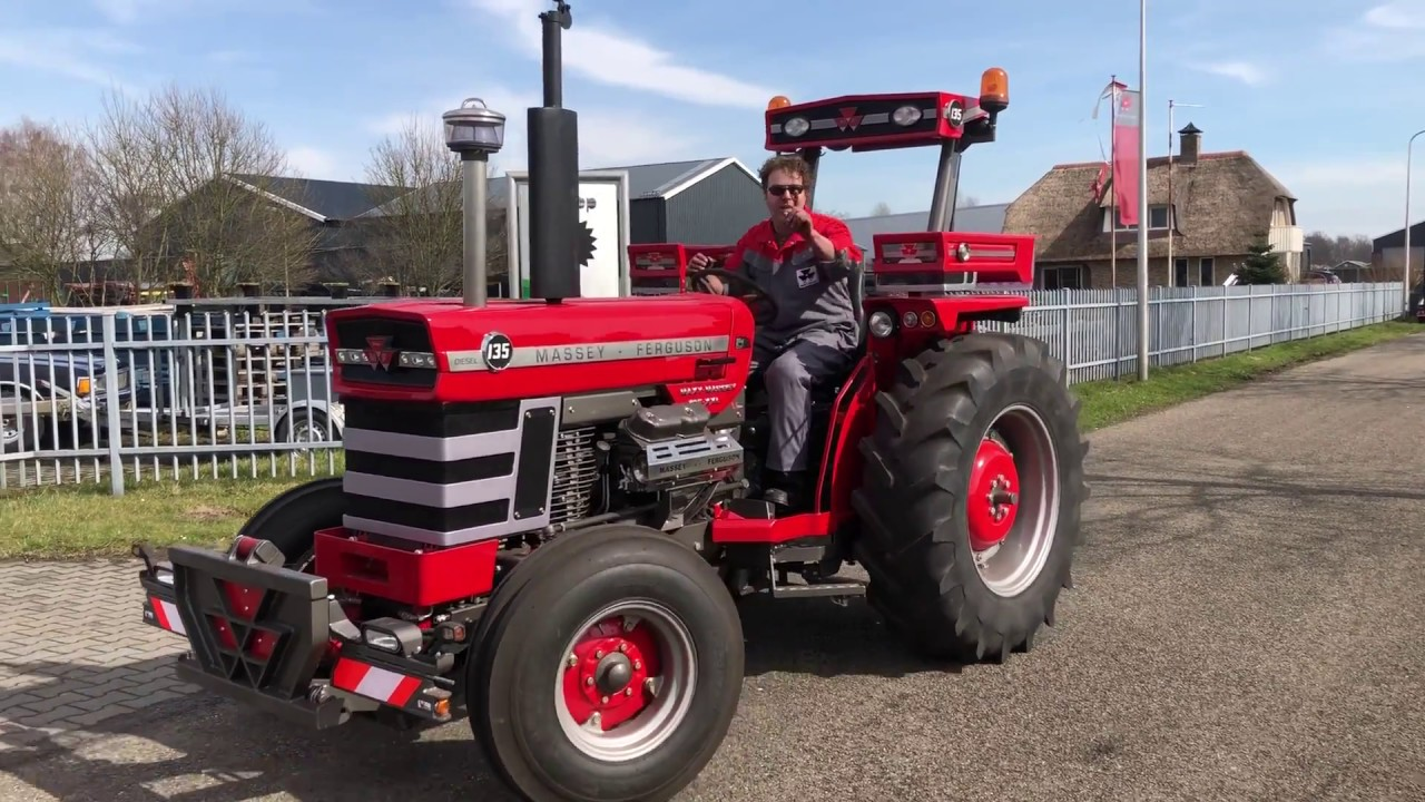 massey ferguson 135 xxl fijne paasdagen trekkerweb youtube. Black Bedroom Furniture Sets. Home Design Ideas
