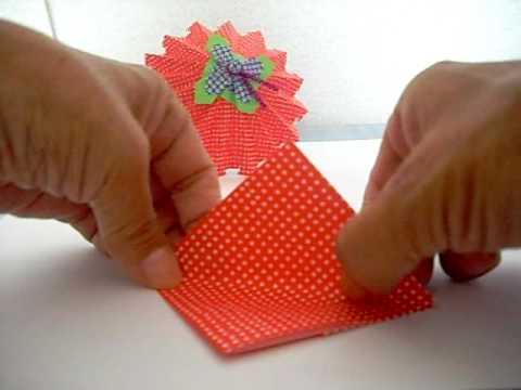 クリスマス 折り紙 折り紙傘の作り方 : youtube.com