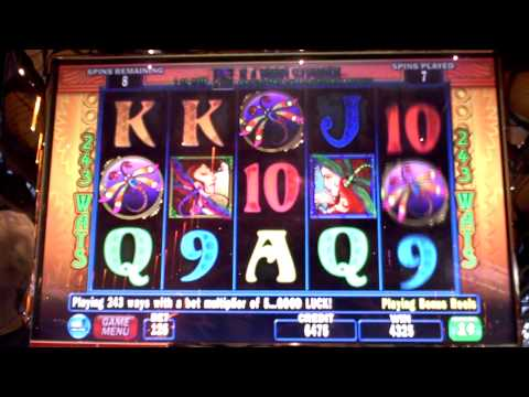 Dragonfly Slot Machine Bonus Win at Sands Casino in PA