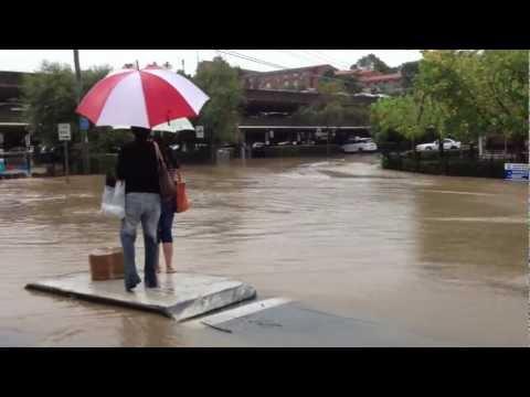Eastwood shopping area flooding 18/04/12 Sydney,Australia