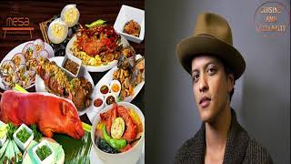 Top 9 favorites foods of Bruno Mars  What do you like? CUISINE  AND  CELEBRITY