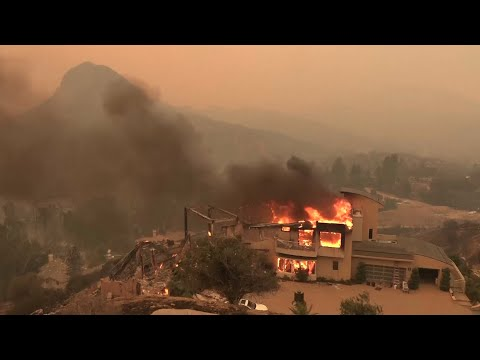 Aerial views of Southern California wildfires Mp3