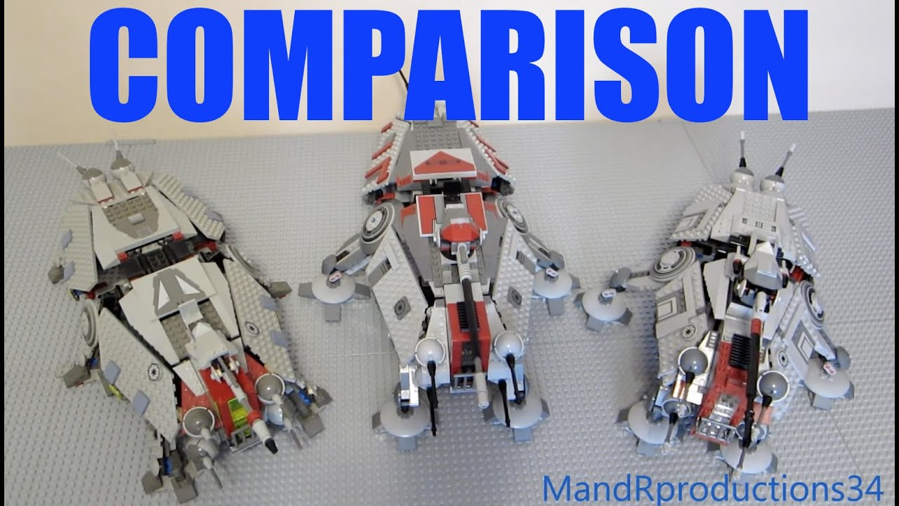 Lego Star Wars Comparison At Te 4482 7675 75019 Youtube 75157 Captain Rexamp039s
