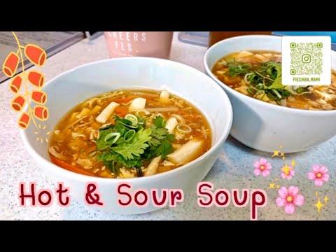 HOt and SOur SOup //サンラータン//酸辣湯// ซุปเสฉวน
