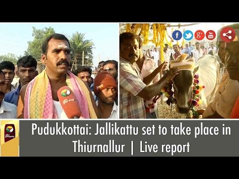 Pudukkottai: Jallikattu set to take place in Thiurnallur | Live report