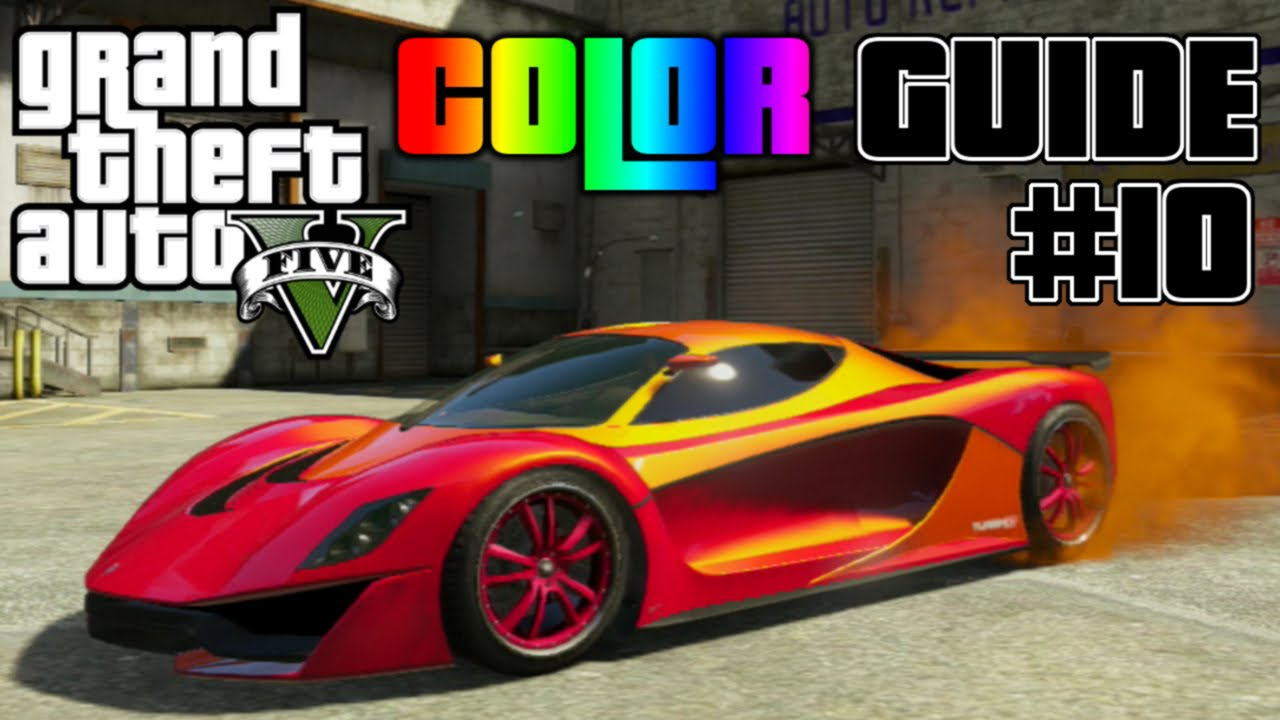 GTA V - Ultimate Color Guide #10 | Best Colors Combos for Grotti ...