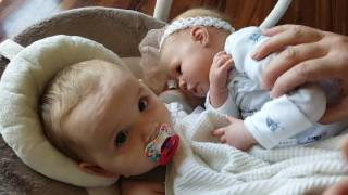 real baby s reaction to reborn baby doll so sweet