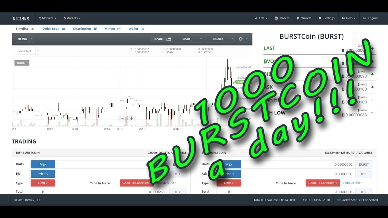1000 Burstcoin a day EASY! - YouTube