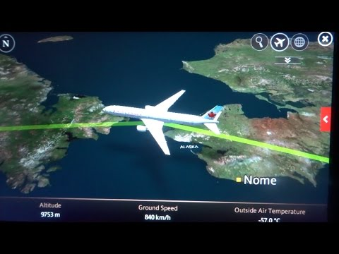 Vancouver-Hong Kong flight AC 7 溫哥華-香港加航航班: Alaska, Russia, Amur River река Амур 黑龙江 2016-11-09