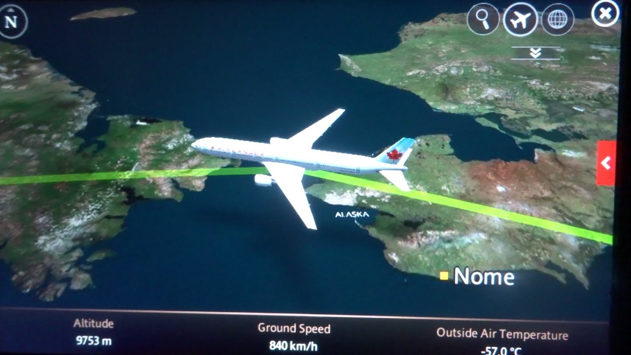 Vancouver-Hong Kong flight AC 7 溫哥華-香港加航航班: Alaska, Russia ...
