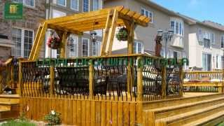 Toronto Cedar Deck With Pergola