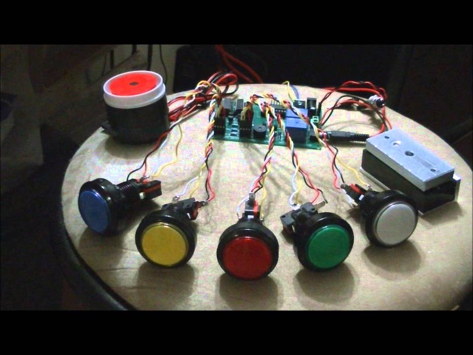 The Led Button Based Combination Lock Escape Room Prop