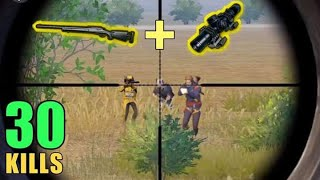 M24 + 8X SCOPE IS OP!! | 30 KILLS SOLO VS SQUAD | PUBG MOBILE thumbnail
