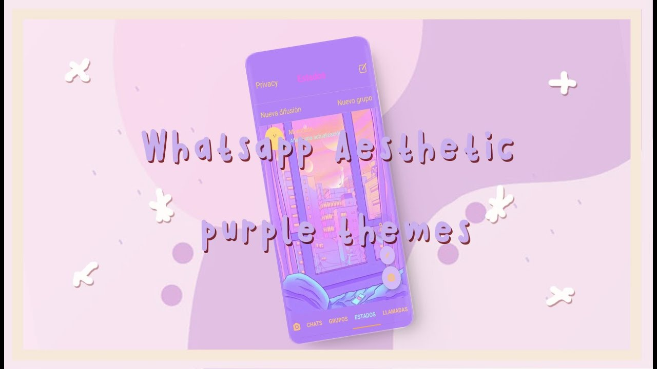 Purple Aesthetic Themes for Whatsapp | *· ̊its Dakkiii -̖́ ...