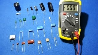 How to test a capacitor / how to test smd capacitors with a multimeter