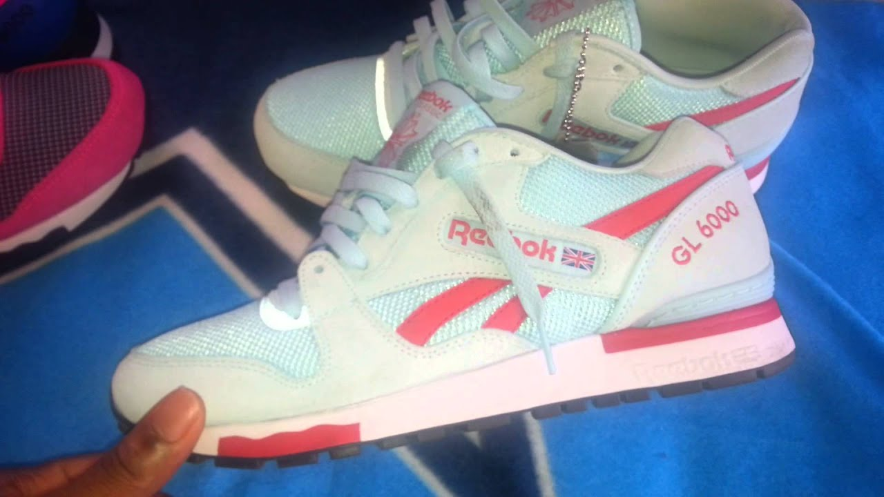 22bad9d061eadd Reebok GL-6000 Pink and Cool Breeze review - YouTube