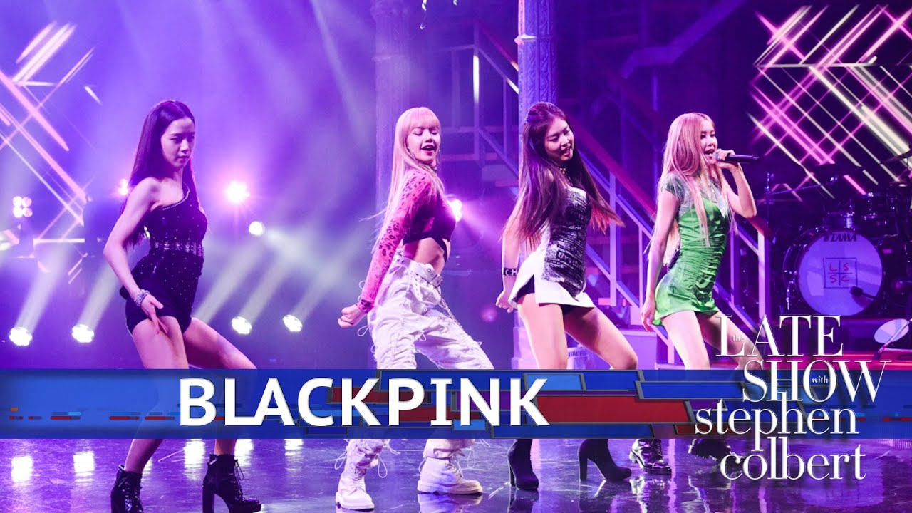 Image result for blackpink COLBERT SHOW