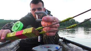 ЯЗИ ГНУТ КИВКИ рыбалка на кольцо с лодки на реке Чулым