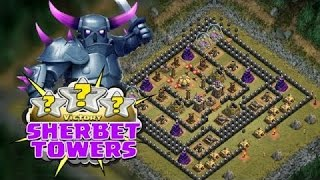 Clash Of Clans!!!ALL P.E.K.K.A ATACCK ON SHERBET TOWERS!!!OMG!!!